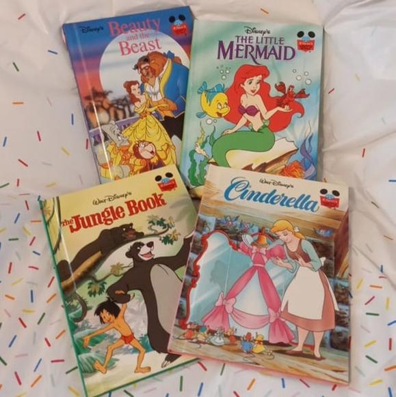 Disney Book Lot - Set Of 4 Hardcover Books